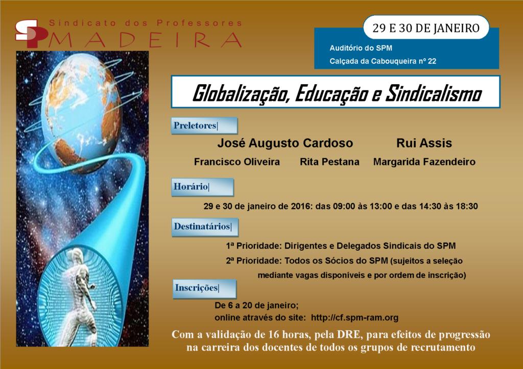 Cartaz seminário Globalização_Educação_Sindicalismo