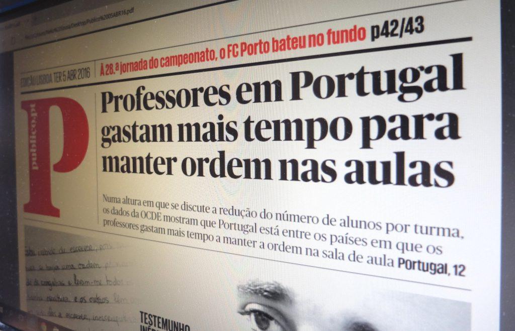 Alunos portugueses no topo da indisciplina