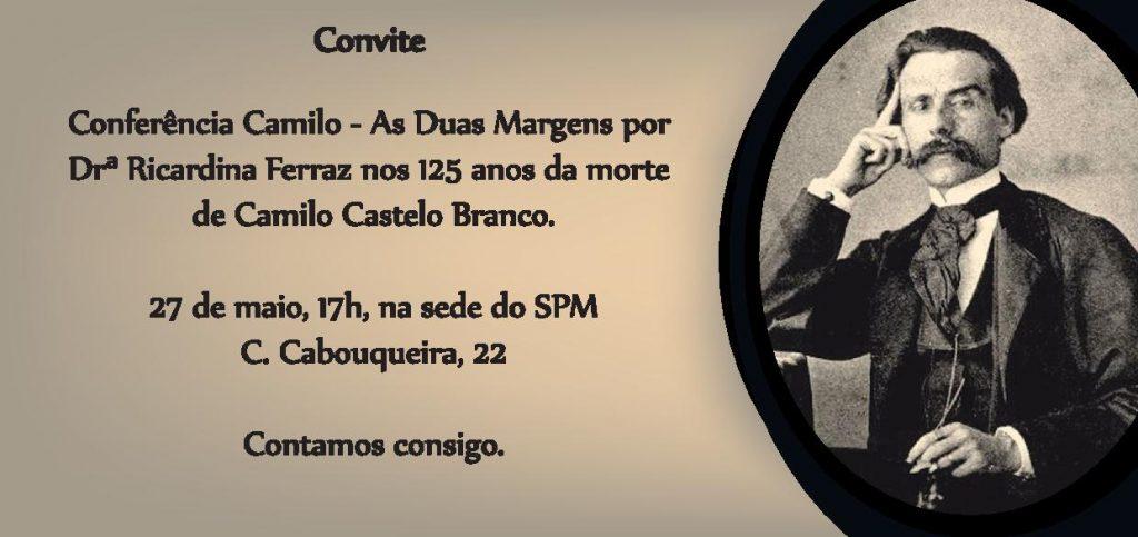 Convite Conf Camilo C Branco 27_maio_2016