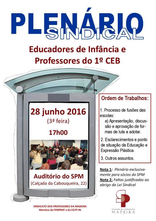 Cartaz Plenario Pre e 1º ciclo 28.junho.2016