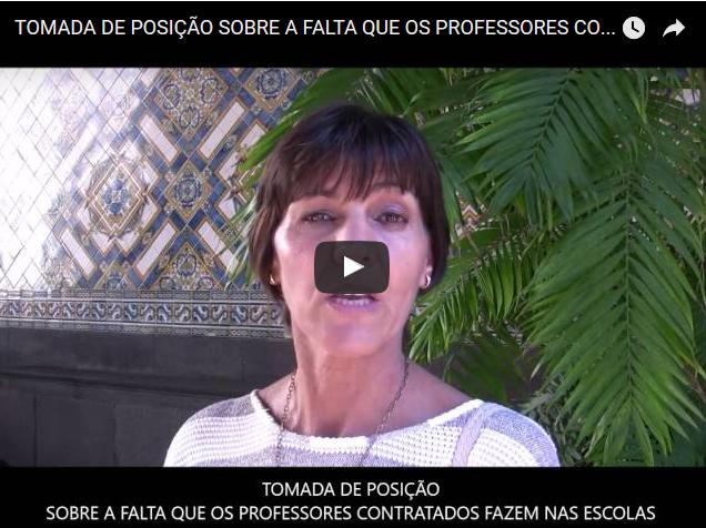 Entrega de documento à SRE sobre os problemas dos contratados, com testemunho da sócia Fernanda Fidalgo, Professora contratada há 7 anos.