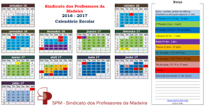 Calendário 2016-2017 (pdf) e parecer do SPM