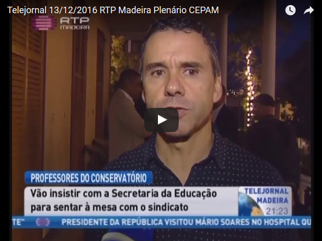 Telejornal 13/12/2016 RTP Madeira  Plenário CEPAM