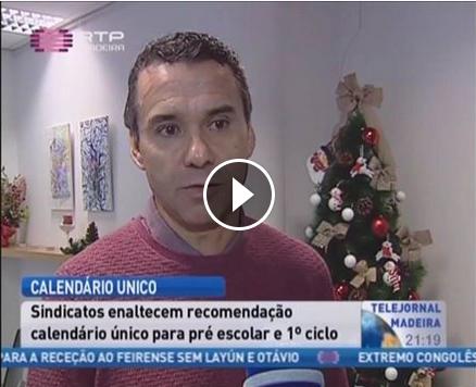 Calendário único – Telejornal RTPMadeira