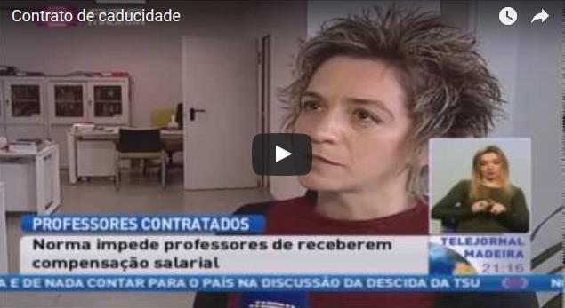 Telejornal RTP Madeira – Contrato de caducidade