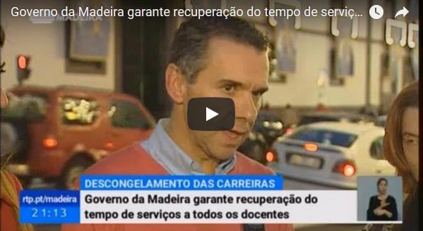 Governo da Madeira garante recuperação do tempo de serviço a todos os docentes
