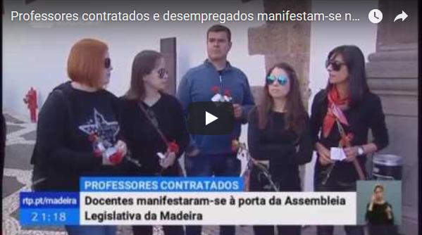 Professores contratados e desempregados manifestam-se no dia 25 de abril