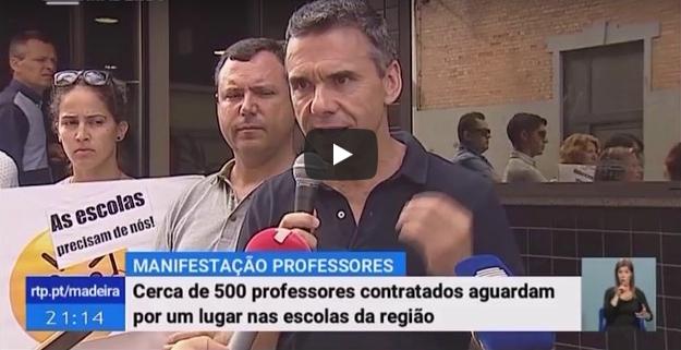 Manifestação Instituto de Emprego da Madeira