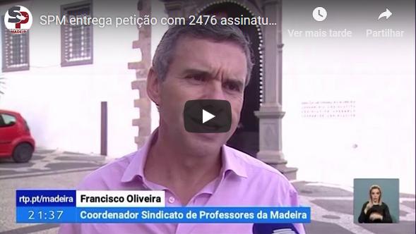 """SPM entrega petição com 2476 assinaturas, """"Carreira docente há só uma"""""""