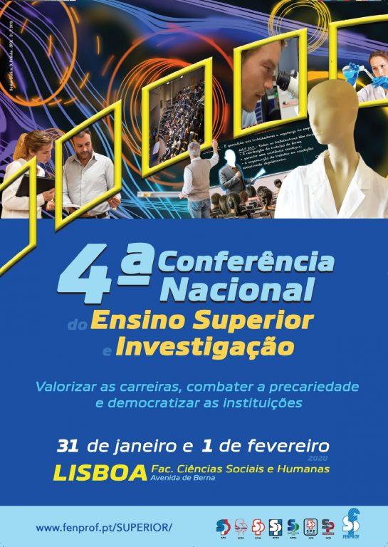 Participe na 4.ª Conferência Nacional do Ensino Superior e Investigação