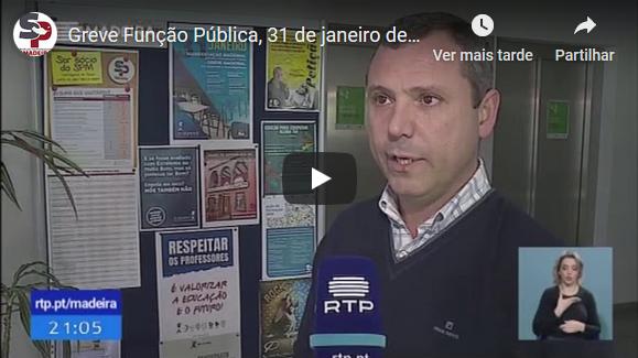 Greve Função Pública, 31 de janeiro de 2020, telejornal RTP Madeira