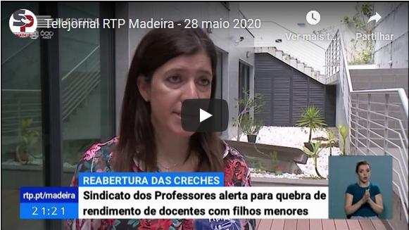 Telejornal RTP Madeira – 28 maio 2020