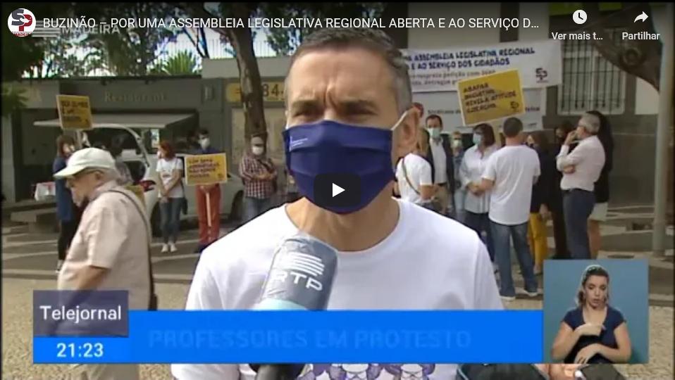 Buzinão – Telejornal RTP Madeira 28 outubro 2020