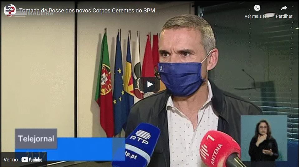 Tomada de Posse dos novos Corpos Gerentes do SPM – Reportagem RTP Madeira, 19-05-2021