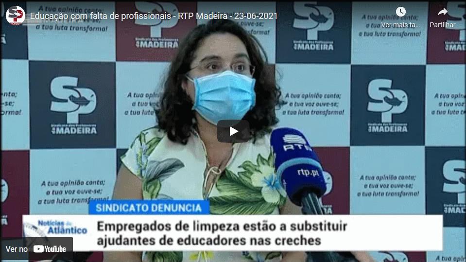 Educação com falta de profissionais – RTP Madeira