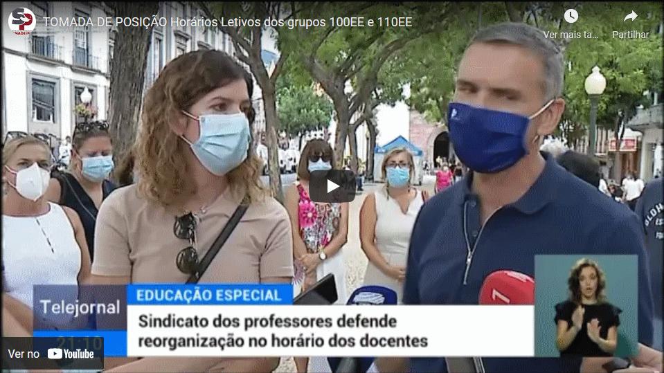 TOMADA DE POSIÇÃO – Horários Letivos dos grupos 100EE e 110EE